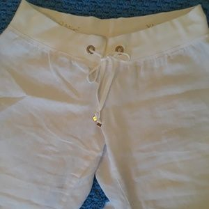"""Lilly Pulitzer """"The Beach Pant"""" White Linen"""